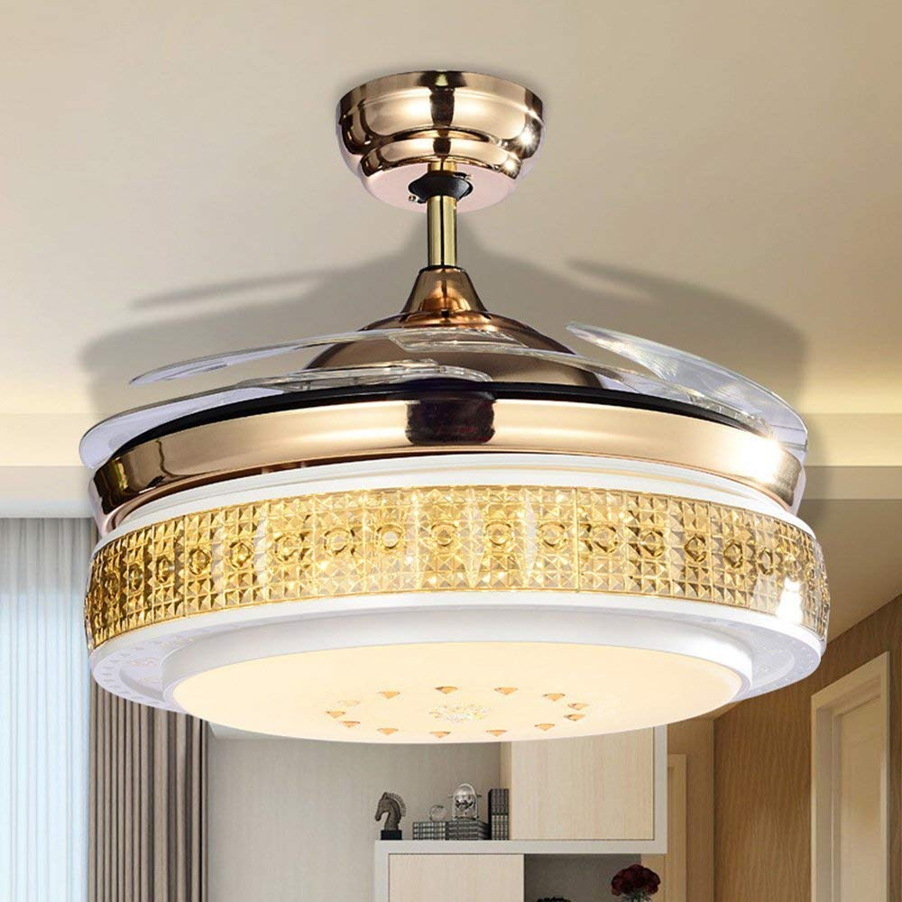 Get Quotations Huston Fan 42 Inch Decorative Ceiling Chandelier Lighting Retractable Light Indoor Home