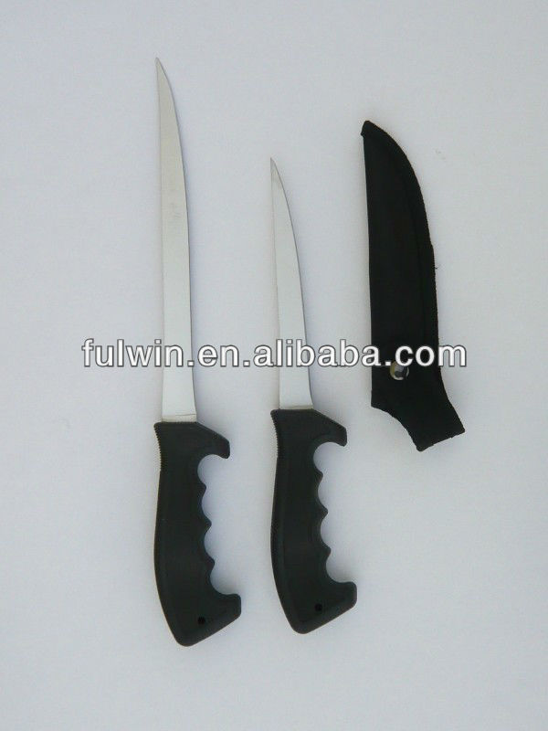 The best quality black PP handle fishing knife