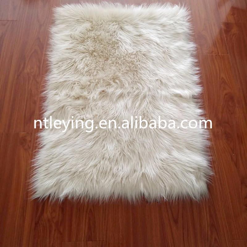 Alfombra Shaggy de pelo largo, de piel de cordero, suave