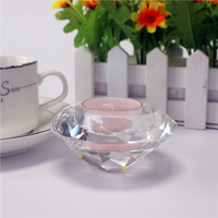 Cheap crystal glass diamond candle tealight holder wedding party favor
