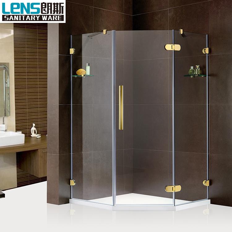 On Sale Diamond Shaped Shower Enclosure Frameless Clear Glass Shower ...
