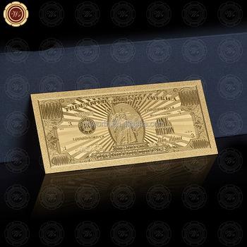 Wr Hadiah Bisnis Amerika 1 Juta Dolar Disesuaikan 24k Emas Uang Kertas Untuk Nilai Koleksi Buy 24k Emas Uang Kertas Berlapis Emas Uang Kertas Hadiah Palsu Uang Kertas Product On Alibaba Com