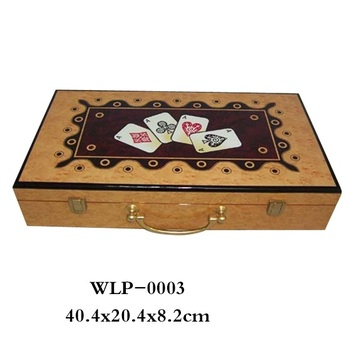 Hot-selling houten doos Texas Hold'em Poker Set in Custom Groothandel