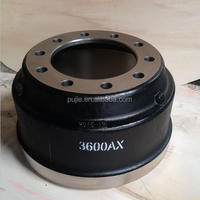 Heavy duty truck brake drum 3600ax