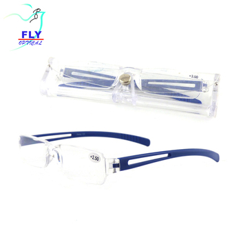 Manufacturers cheap thin optical frame wholesales eyewear pocket reading glasses with case