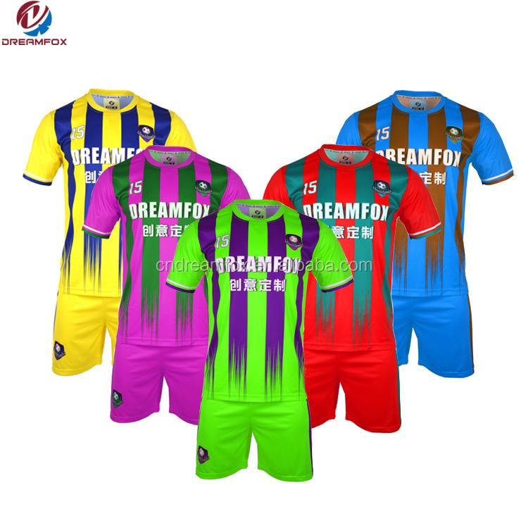 60a4b56e6 Cheap Wholesale soccer jersey 100% polyester Fashion custom jerseys design  blank yellow brazil soccer uniform