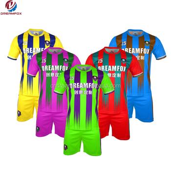 Cheap Wholesale soccer jersey 100% polyester Fashion custom jerseys design  blank yellow brazil soccer uniform 62aa93ccd