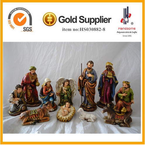 Best selling Large Figurines resin christmas decorative outdoor nativity set