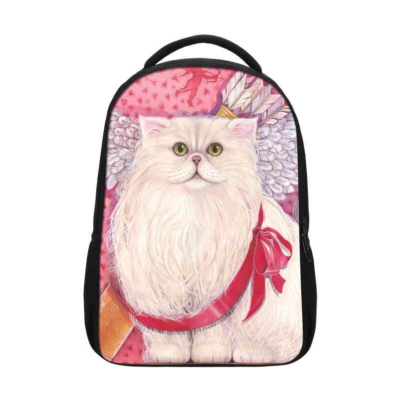 Wholesale lady style backpack cat printing women backpack bag animal backpack for <strong>school</strong>
