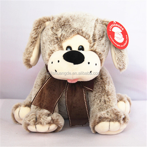 Factory price kids brown white chihuahua dog soft plush toys