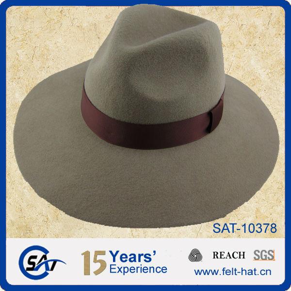 83a63af270c52 Solid Blaze Orange 100% Wool Felt Fedora Hats - Buy Wool Felt Fedora ...