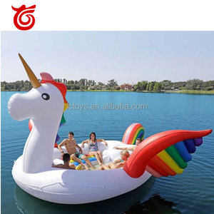 Summer water horse pool toy / rainbow horse / inflatable horse pool