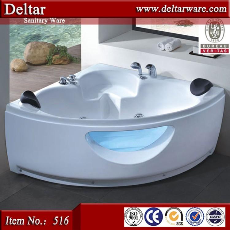 Bathroom Corner Double Bathtub With Tv Two Person Indoor Bath Tub ...