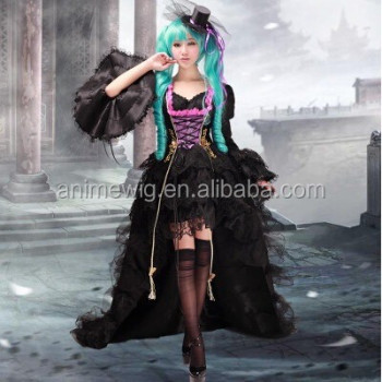high quality lolita vocaloid miku dress anime cosplay costumes lolita dress uniforms halloween costumes