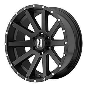 XD Series by KMC Wheels XD818 Heist Satin Black Wheel With Milled Flange (17x8/5x114.3mm, +35mm offset) by XD Series by KMC Wheels