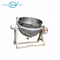 Electrical polish 1.0MPa 220V double jacketed steam kettles
