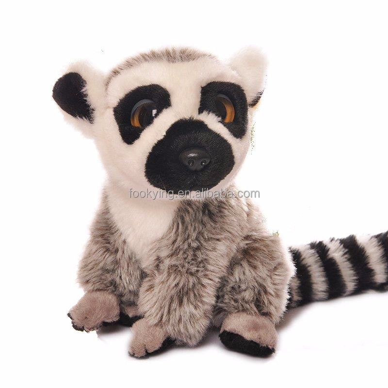 GSV shaking tail writhing body soft fur plush raccoon