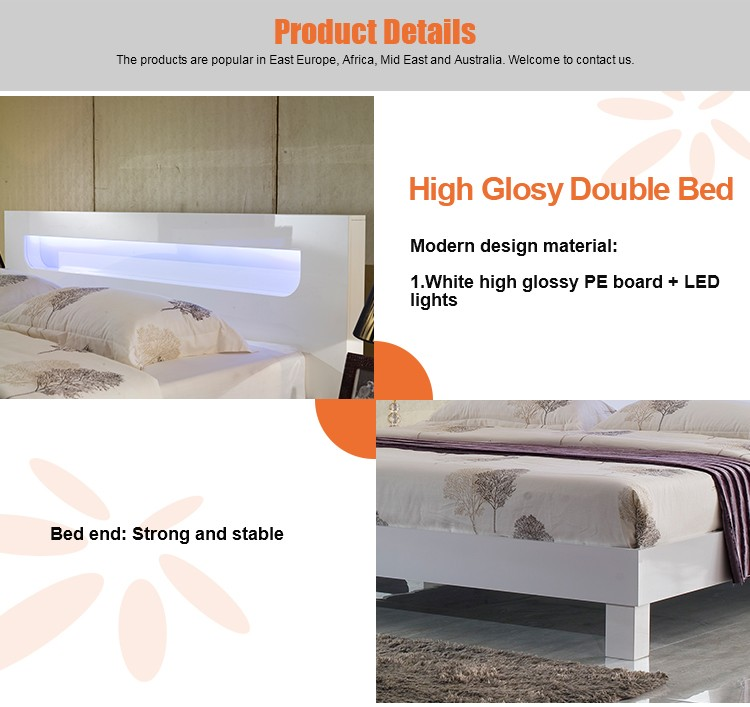 Modern New Model Wooden Double Bed Designs