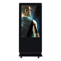 "55"" Original Samsung LG WiFi double side freestanding Android Windows OS wall mount LCD touch screen"