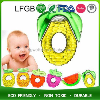 100% Food Grade Soft Different Shape Silicone Baby Teether / Baby Teething Necklace for Biting
