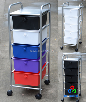 office trolley cart. Studio Scrapbooking Paper Craft Office 5 Plastic Drawers Utility Storage Trolley  Cart Organizers Factory