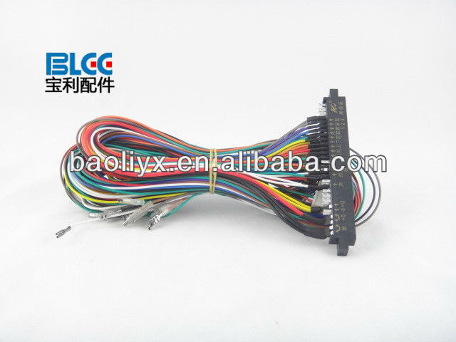28pin Jamma Full Cabinet Wiring Harness Loom For Jamma Pcb Boards - on electric harness for loom, warping a 4 harness loom, wiring loom sleeve,