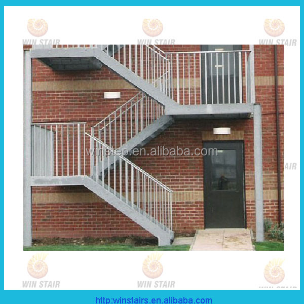 Outdoor Galvanized Steel Stair/u Shaped Staircase/metal Fire Escape Stairs    Buy Residential Steel Stairs,Exterior Metal Stairs,Kit Steel Stairs  Product On ...