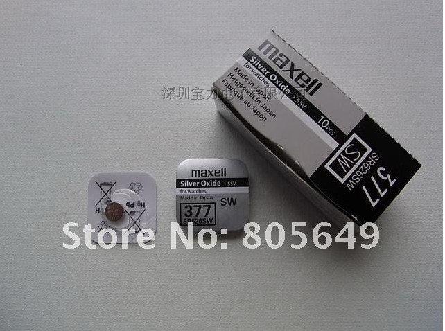 Maxell оксид серебра часы аккумулятор 377 SR626SW 626 1.55 В сделать в япония