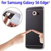 Electroplating Mirror TPU Protective Case for Samsung Galaxy S6 Edge+ cover