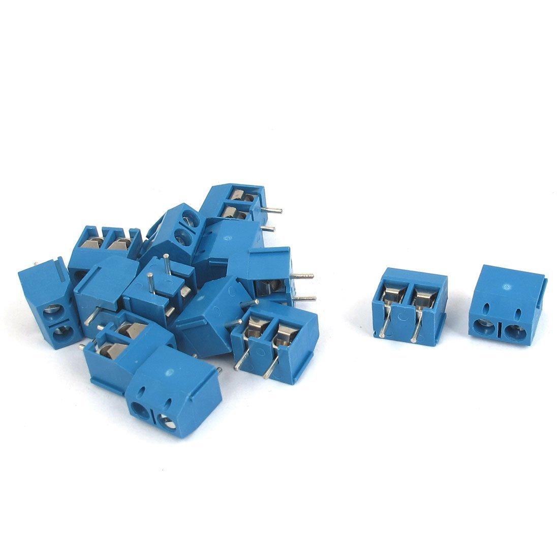 uxcell 2P 5mm Pitch PCB Mounting Screw Terminal Block AC 300V 10A 14pcs
