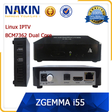 Fast Speed Best ENIGMA 2 LINUX OS IPTV Set Top BOX ZGEMMA i55 with BCM7362 Dual Core Set Top BOX