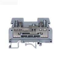 Provide Multi-function 63.5/6.2/47mm DuPont PA66 Screw Din Rail Mounted Electric Terminal Block