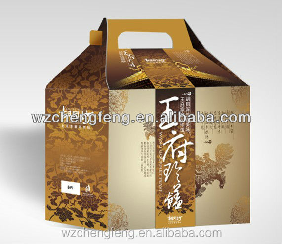 High quality die cut handle paper carton for electrical home appliance
