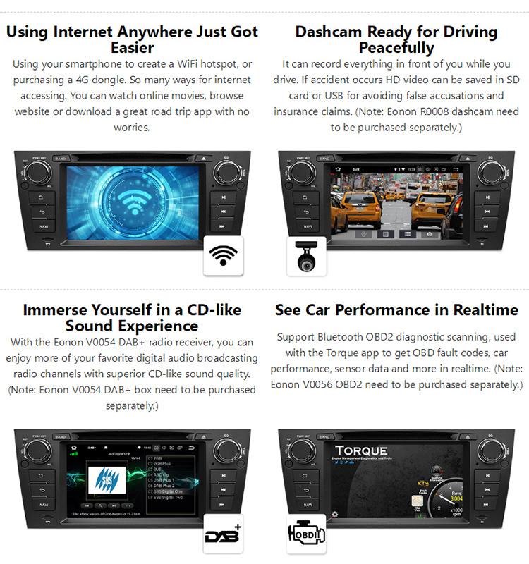 Eonon Ga9165b For Bmw E90 E91 E92 E93 Android 8 0 Octacore 4gb Ram 8 Inch  Car Dvd Gps Navigation Car Stereo - Buy Android 8 0 Car Radio Cd Player