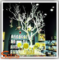 12ft plastic dry tree for decoration with artificial white decorative dry tree branches