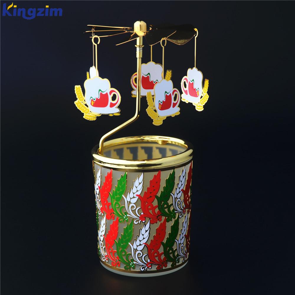 Sagrada família cena escandinavo styleg rotativo colorido suporte da vela para decoração de casamento