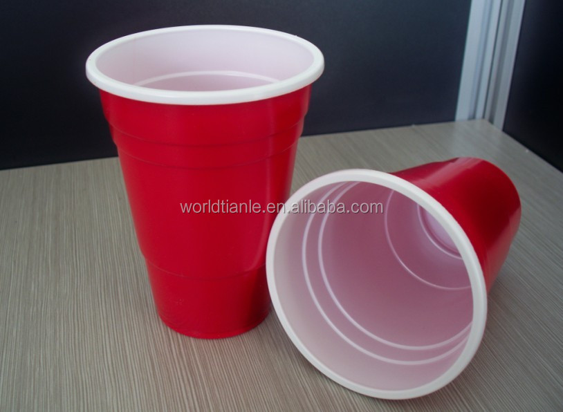 American Style 16oz Solo Red Plastic Party Beer Cup