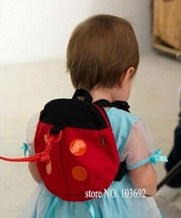 По уходу за детьми божья коровка форма школьные сумки дети против потерял хлопок рюкзаки дети детский сад мешок ребенка анти потерял мешок mochila infantil