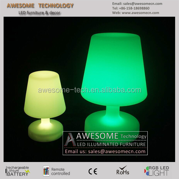 Portable luminaire led table lamp rechargeable led table for Luminaire exterieur rechargeable