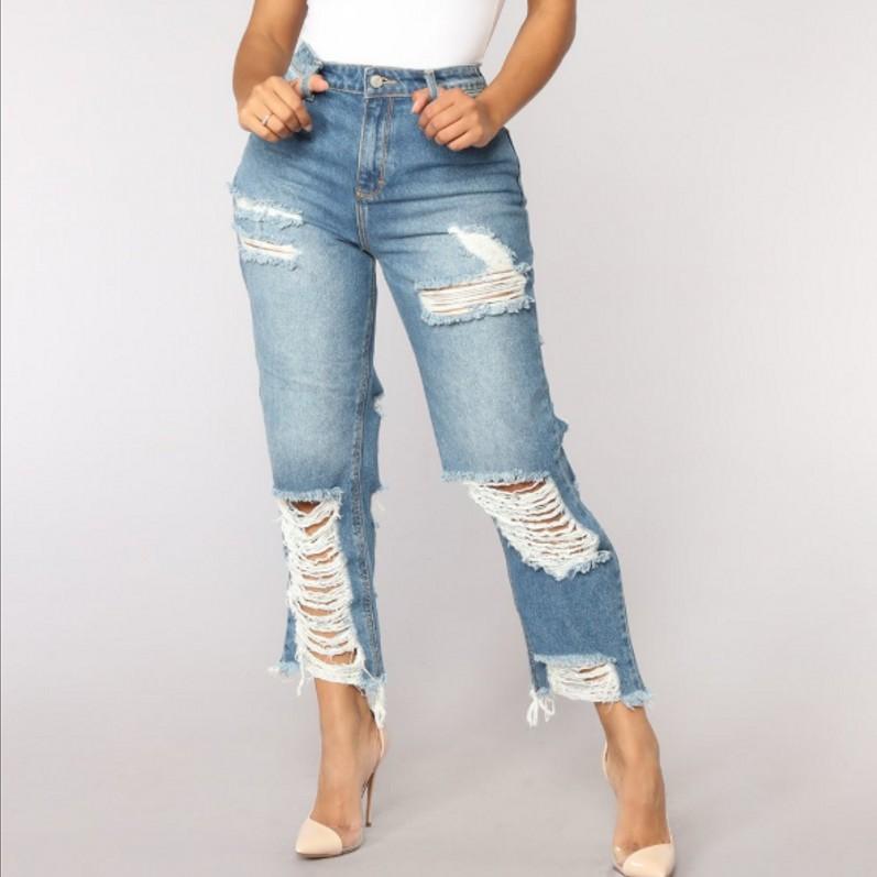 Vaqueros Rasgados Con Agujeros Para Mujer Pantalon Recto Vaqueros Holgados Para Novios Ajustados Y11366 Buy Denim Jeans Women Denim Pants Ripped Jeans For Women Product On Alibaba Com