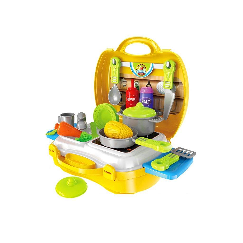 Kids Children Builder Tool Construction Kit Pretend Role Play DIY Set Yellow