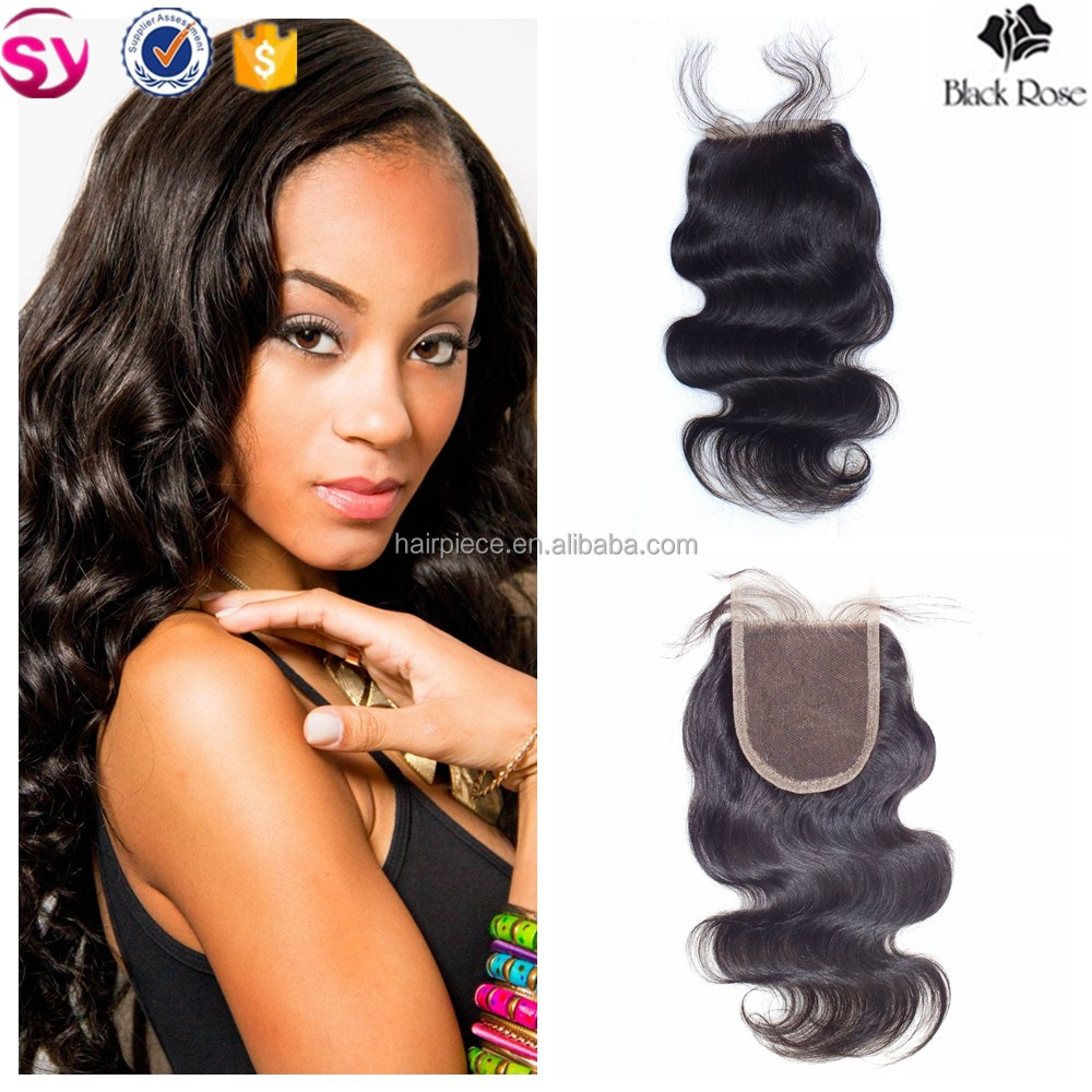 Virgin Hair Bundles with Lace Closure, 4x4 Three Part Cheap Huaman Hair Swiss Full Lace Closure with Baby Hair