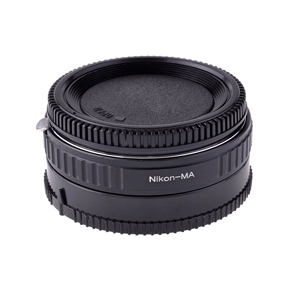 Neewer Black Metal Lens Mount Adapter with Optical Glass for Nikon lens to Minolta MA Mount / Sony Alpha DSLR, fits Sony A100, A200, A350, A700, A900, A230, A330, A380, A850, A35, A55, A65
