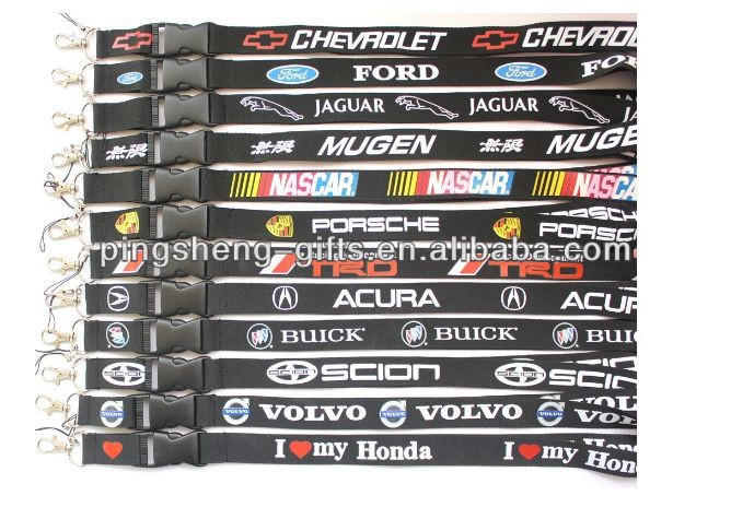 Custom car logo printed lanyard