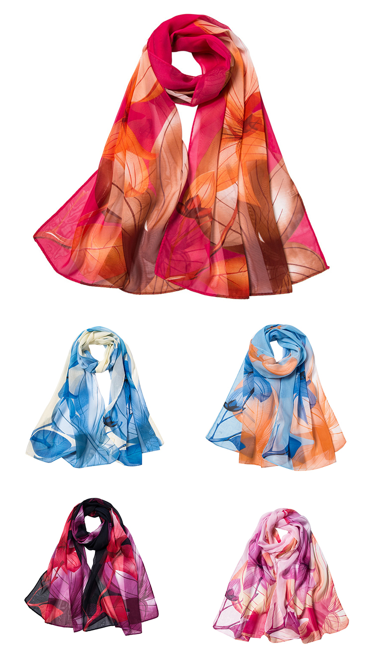 HC-XF008  low price stock women chiffon scarf for girls and lady 160*50cm