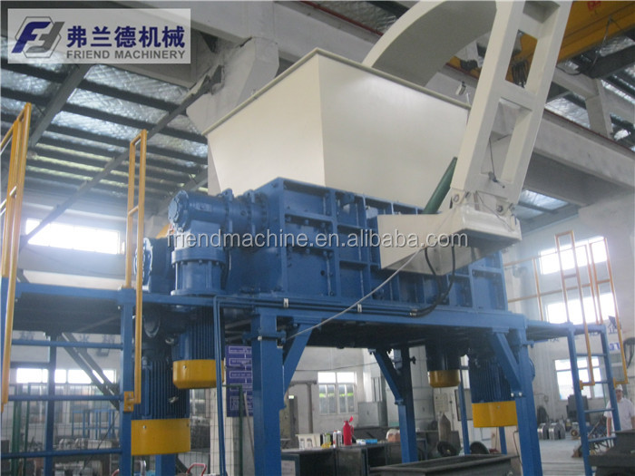 Gebruikte Tyre Tyre Shredder Machine / plastic shredder / recycling machine
