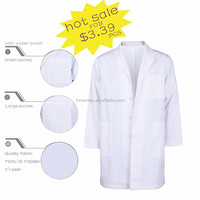 lab-2007 Best Quality Brushed Plain dyeing Doctor Lab Coat