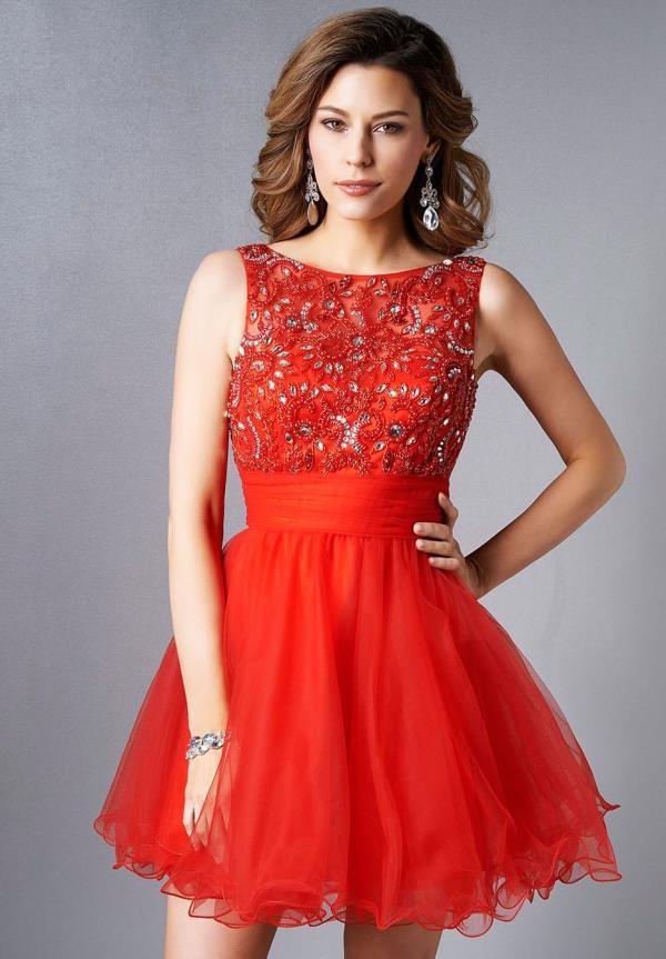 90fdb8d0be Resultado de imagen para vestidos de gala juveniles. Vestido rojo de Gala o  fiesta ...