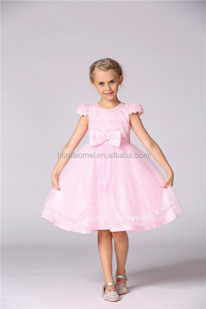 aeb9a9d8c Los niños ropa de moda de Corea color blanco niña de las flores vestido de  niña