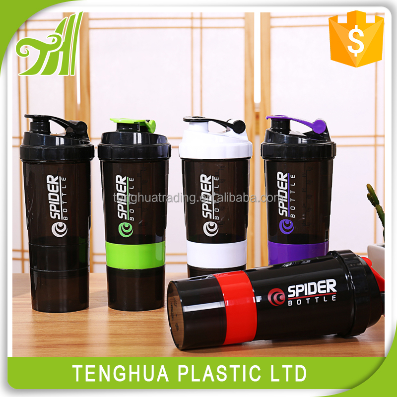 2017 New plastic <strong>sports</strong> shake water bottle 500ml,protein shaker